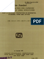 Code of Practice for Cathodic Protection of Steel Structures - Indian Standard