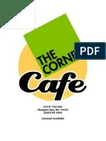The Corner Café Menu