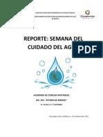 Reporte Cuidado Del Agua