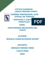 Festividades Religiosas Del Cusco