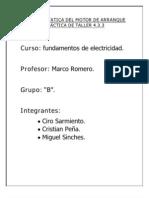 PRUEBA ESTATICA DEL MOTOR DE ARRANQUE PRÁCTICA DE TALLER 4