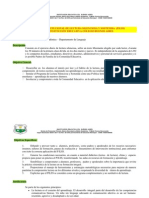 Proyecto Institucional de Lectura Cba 2011