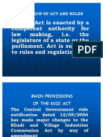 Main Pro. of KVIC Act, Rules & Regulations