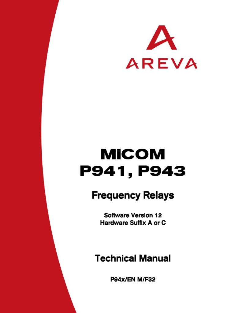 P94x Micom Relays Fuse Electrical