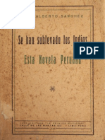 1928. Luis Alberto Sánchez. - Se Han Sublevado Los Indios