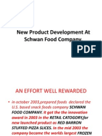 New Product Development at Schwan Food Company