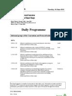 Bonn Climate Change Talks – Daily Schedule – June 14th, 2011