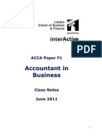 Acca f1 Notes
