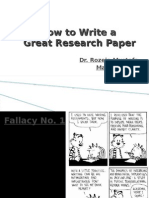 How to Write Paper (14 May 2011)