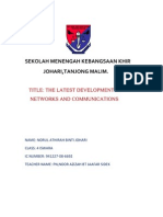 ict form 4 THE LATEST DEVELOPMENT IN      NETWORKS AND COMMUNICATIONS