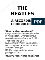 Beatles Recording Chronology