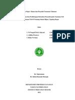 pengamatan Penyakit Pada Perkebunan Teh. IPB.