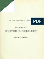 Dr. Bailhache - Un type d'ouvrier anarchiste. Monographie d'une famille d'ouvriers parisiens (1905)
