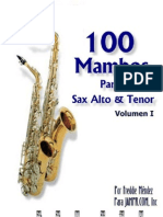 100 Mambos Sax Alto Tenor Merengue