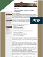 Universality of Service Fact Sheet