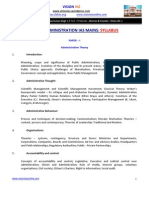 Syllabus Ias Public Administration Mains