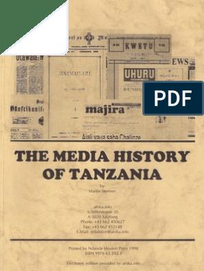 The Media History of Tanzania | Tanzania | Mass Media