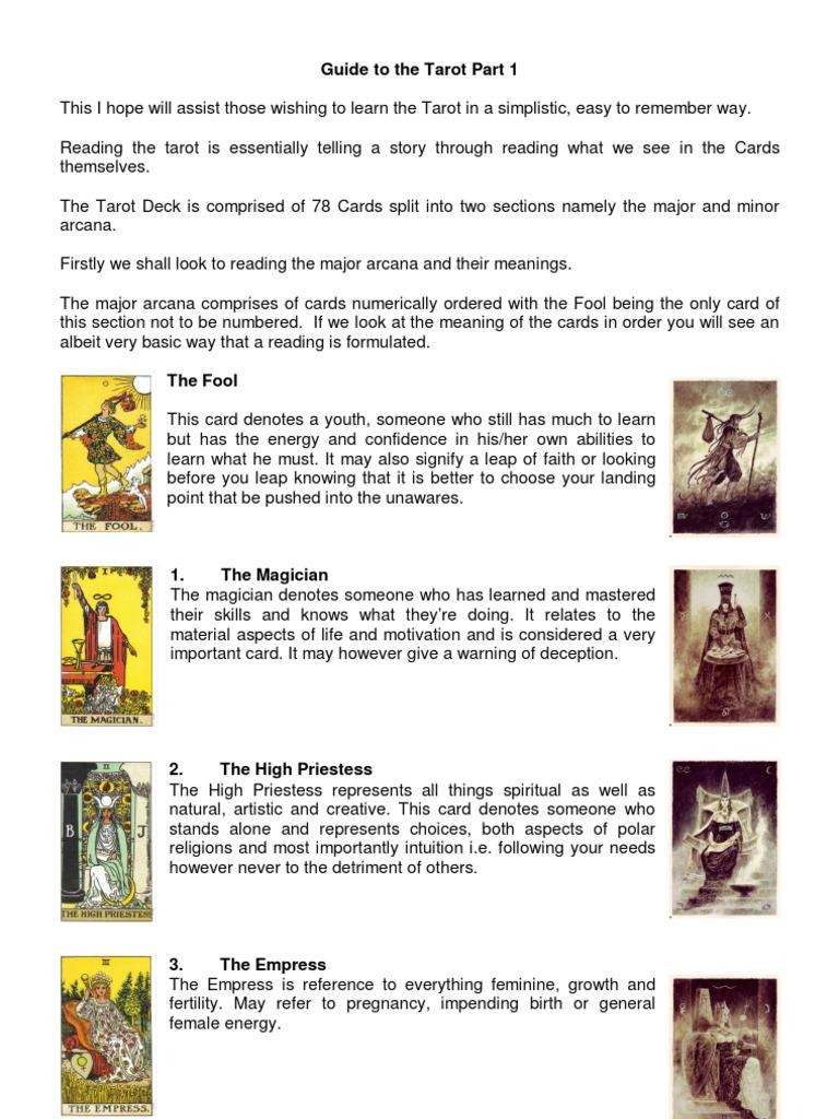 Guide to the Tarot Part 1 | Major Arcana | Tarot