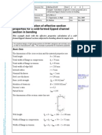 Example Calculation of Effective Section Properties for a Cold-Formed Lipped Channel Section in Bending