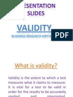 Presentation Slides validity (Synopsis)