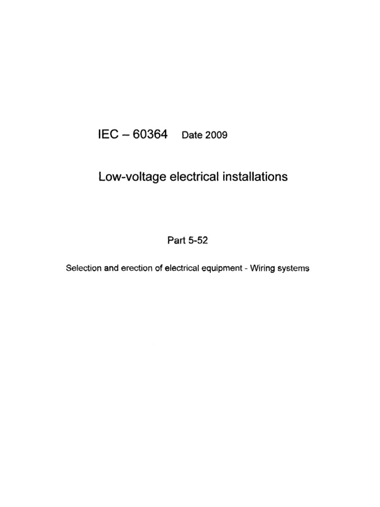 Iec60364 Low Voltage Electrical Installations Part 5
