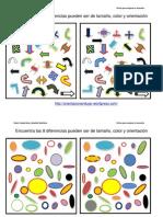 Diferencias Entre Conjuntos Orientacion Tamano y Colores Fichas 1 10