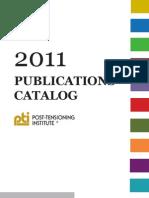 2011 Post-Tensioning Institute Publications Catalog
