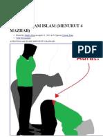 Aurat Dalam Islam (Menurut 4 Mazhab)