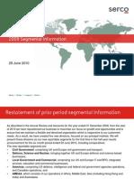 Serco 2010 Segmental Information Tcm3-35784