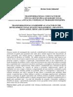 A LIDERANÇA TRANSFORMACIONAL COMO FACTOR DE