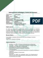 Adm de Bodegas y Control de Inventarios