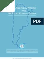 La Opinión Pública Argentina sobre Política Exterior y Defensa (2002)