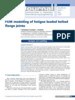 FEM Modelling of Fatigue Loaded Bolted Flange Joints