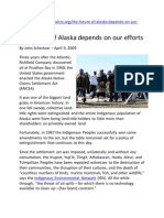 2009 the Future of Alaska Depends on Our Efforts