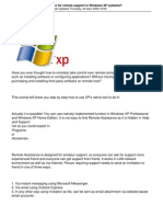 How to Use Remote Assistance for Remote Support in Windows Xp Systems