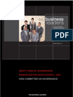 King Report on Governance for South Africa