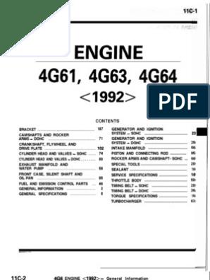 89-93 4G63 Engine Manual   Throttle   Belt (Mechanical)