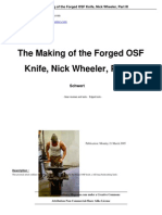The Making of the Forged OSF Knife