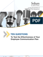 Ten Questions to Test the Effectiveness of Your Employee Communication Plan