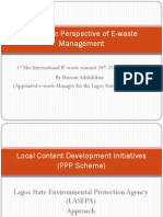 Economic Perspective of E-Waste Management