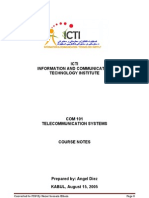 COM 101 NOTES Telecommunication System
