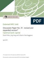 07. Optimal Bank Capital - Bank of England - April 2011