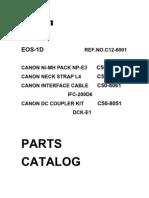 Parts List-EOS 1D
