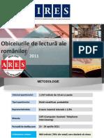 Wkm9a Ires Obiceiurile de Lectura Ale Romanilor 2011
