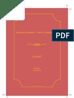 Kant Resposta a Pergunta o Que e o Iluminismo