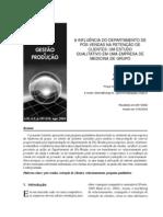 A INFLUÊNCIA DO DEPARTAMENTO DE POS VENDA