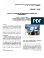 INFLUENCE OF HYSTERESIS ON THE DYNAMICS OF CRYOGENIC LNG COMPOSITE HOSES