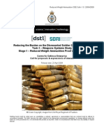 RBDS CV - Reduced Weight Ammunitiion CDE Call v 1 (23 April 09)