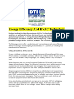 Energy Efficiency and HVAC Technology