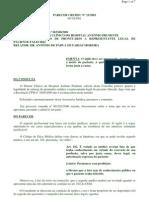 PArecer CREMEC 2001 sobre ação cautelar de exibição de documentos por erro medico ESSENCIAL